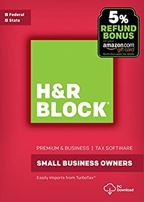 H&R Block Tax Software Premium & Business 2017