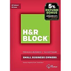 H&R Block Tax Software Premium & Business 2017 with 5% Refund Bonus Offer [PC Download]