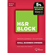 H&R Block Tax Software Premium & Business 2017 with 5% Refund Bonus Offer [PC Download]