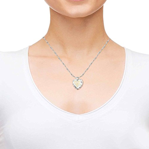 925 Silver I Love You Necklace 12 Languages Gold Inscribed Clear CZ - Crystal Earring Heart Jewelry Set by Nano Jewelry (Image #4)