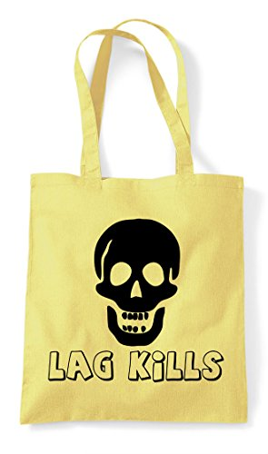 Lemon Icon Gaming Skull Gamer Kills Lag Statement Tote Bag Shopper zvTqZE