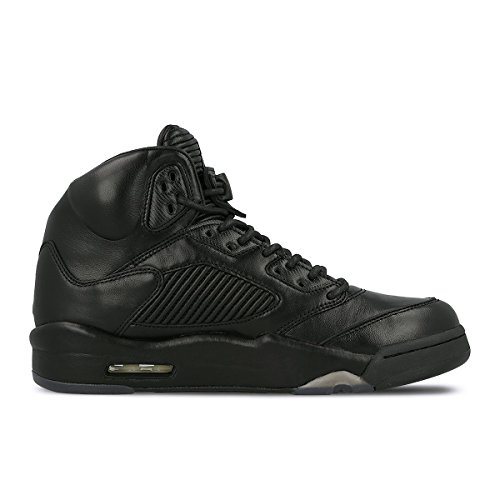 NIKE AIR JORDAN 5 PRM TRIPLE BLACK AKA BLACK JACKET 881432-010 US SIZE 12 by NIKE