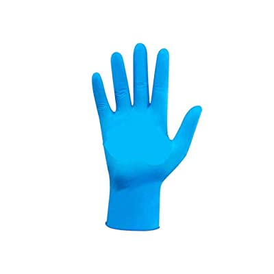 Nitrile Exam Gloves,100 Pcs Comfortable Disposable Exam Gloves Protective - Safety, Powder Free, Latex Free Blue (M): Clothing