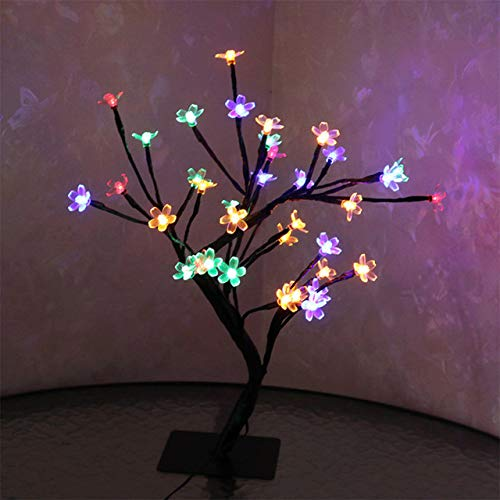 Lembem - LED Cherry Blossom Lamp 36 Bulbs Christmas Vase Coffee Floral Lamp Tree Branch Light Decorative Light Wedding Home Bar Decor