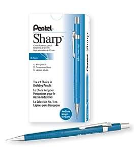 Pentel Sharp Automatic Pencil, 0.7mm Lead Size, Blue Barrel, Box of 12 (P207C)