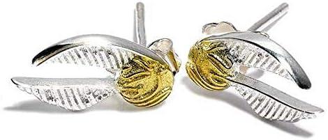 [해외](해리 포터) Harry Potter 오피셜 상품 골든 スニッチ 실버 도금 귀걸이 / Harry Potter Harry Potter Official Product Golden Snitch Silver Plated Earrings