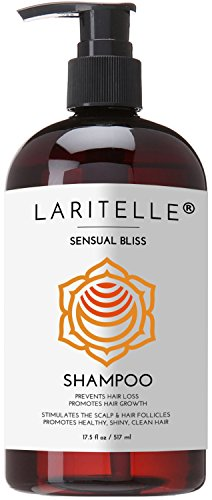 Laritelle Organic Shampoo 17.5 oz. Argan Oil, Rosemary, Palmarosa. Promotes Hair Growth, Prevents Hair Loss. GF