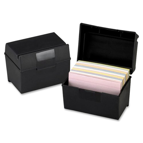 Esselte Plastic Index Card Box With Lid - 400 x Card - 6