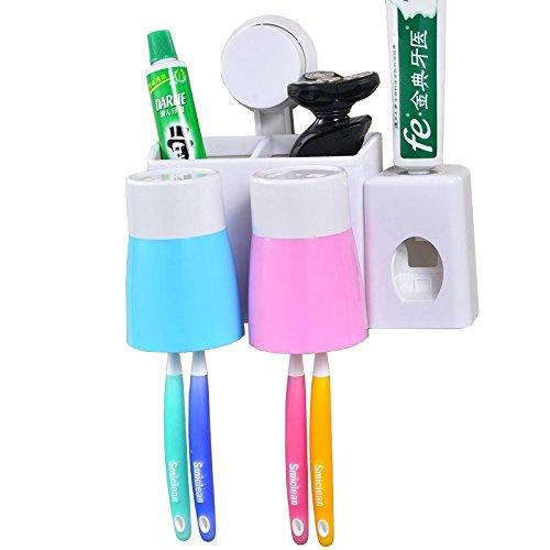 No1seller Bathroom Toothpaste Dispenser Toothbrush