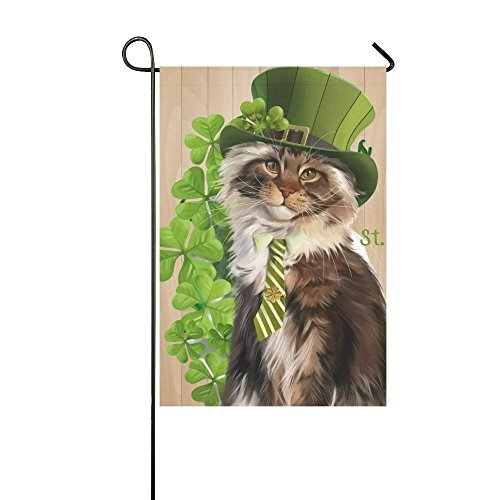 WAZZIT Cat Leprechaun Irish St. Patrick's Day Polyester Gard