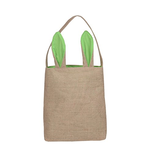 Kefan 3 pack easter bunny bags easter bunny baskets jute burlap kefan 3 pack easter bunny bags negle Images