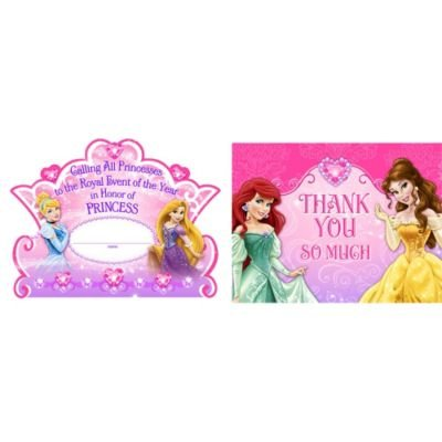 Birthday Disney Invitation Princess - Disney Princess Dream Party Invitations &Thank-You Postcards (8 each) by Hallmark