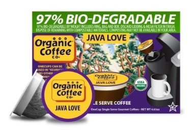 The ORGANIC COFFEE Presence JAVA LOVE 24 ONE CUPS for Keurig K-Cup Brewers