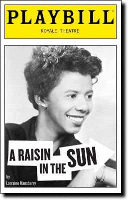 Playbill from A Raisin in the Sun starring Sean Combs Audra McDonald Phylicia Rashad Sanaa Lathan Sean Combs aka P Diddy Puff Daddy Diddy Written by Lorraine Hansberry