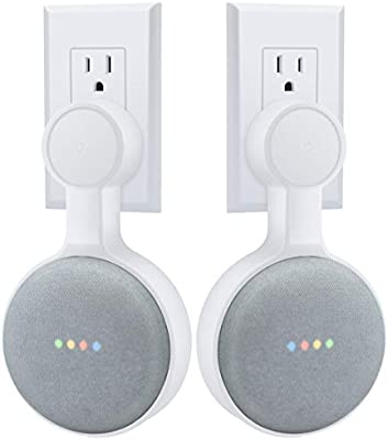 Amazon com: AMORTEK Outlet Wall Mount Holder for Google Home Mini, A