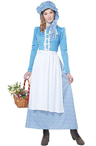California Costumes Women's Pioneer Woman Costume, Blue/White X-Large -