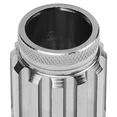 J2 Engineering LN-T7-002-15-SL Silver 7075 Aluminum M12X1.5 16Pcs L: 50mm Open End Lug Nut w/4Pcs Lock+Key: Automotive