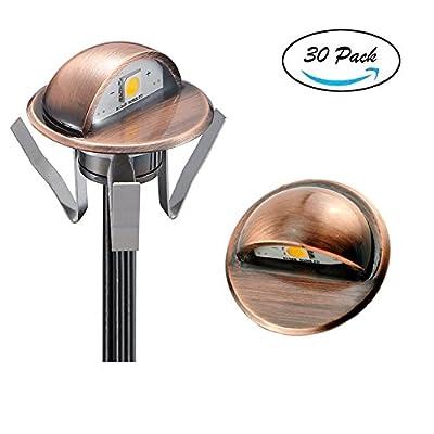 FVTLED Low Voltage LED Deck lights kit Outdoor Garden Yard Decoration Lamp Recessed Landscape Pathway Step Stair LED Lighting, Bronze