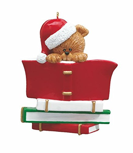 Book Club Reading Lover Personalized Christmas Tree Ornament-Free Personalization and Gift Bag Included (Ornaments Christmas Book)