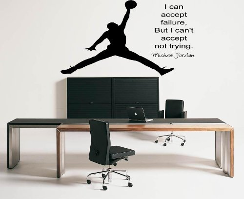Large Michael Jordan Inspirational Wall Sticker Quote Vinly Decal Wall Mural  70x55 Part 24