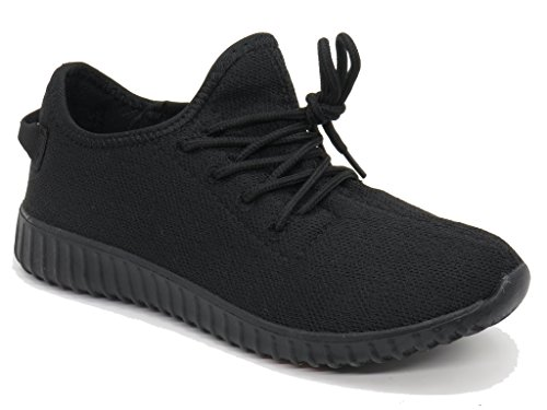 (Blue Berry EASY21 Women Casual Fashion Sneakers Breathable Athletic Sports Shoes EASY34,Black/Black,8)