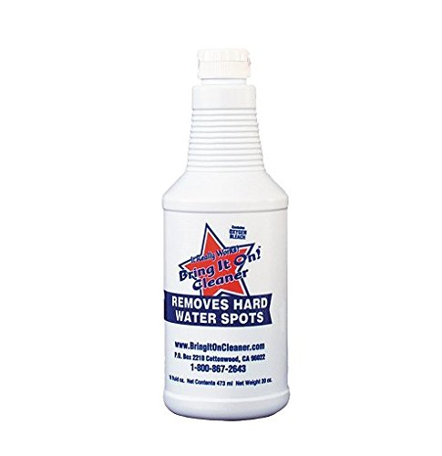 Bring It On Auto Glass Spot Cleaner and Remover 16 oz, Remove Water Spots from Windshields, Rims, Bumpers, Headlights, Remove Water Marks from Headlights. Contains Oxygen Bleach for Added - From Deep Scratches Glass Remove