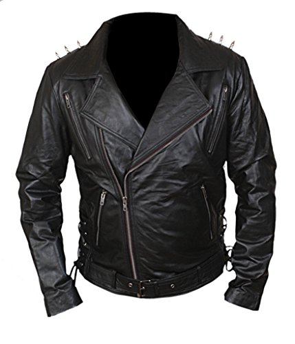 F&H Men's Ghost Rider Metal Spikes Jacket S Black