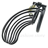 Adult Games Male Chastity Devices Manganese Steel C-ock Cage For Men Metal Chastity Belt P-enis Ring Sex Toys C-ock Lock Bondage Adult Products,45mm