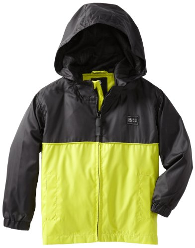 Billabong Little Boys' Kids Solid Force Jacket, Neo Lime, 5/Medium ()