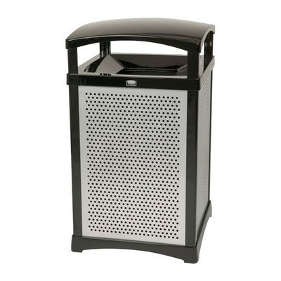 Rubbermaid Commercial Products FG9W5000BRNZ Infinity Panel Kit for Square Decorative Waste Containers, Perforated (Bronze, 35-Gallon) - Square Perforated Panel