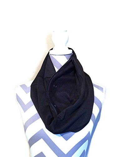 Bonding and Carrying Scarf for Sugar Gliders, Rats, Hedgehogs, or Other Small Animals in Solid Black Knit
