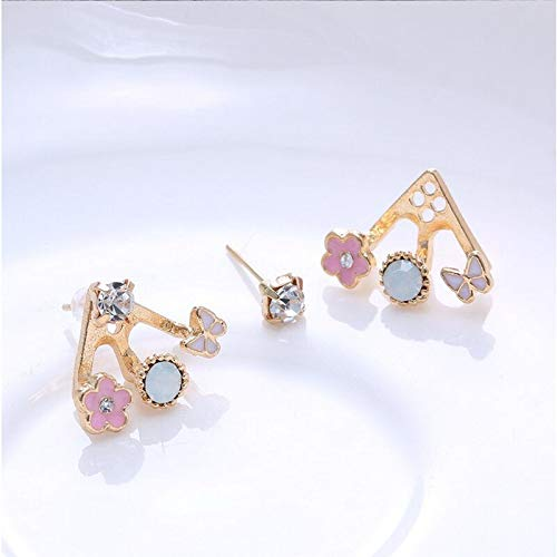 Fashion Lovely Womens Lady Elegant Crystal Rhinestone Ear Stud Earrings