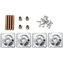 Furniture Leg Mounting Plates with Hanger Bolts Screws Adapters Strength Plates Repairing Damaged Sofas Couches Seats,Set of 4