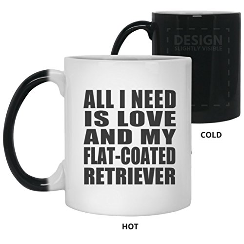 Watch Flat Retriever (Dog Lover Magic Mug, All I Need Is Love And My Flat-Coated Retriever - 11 Oz Color Changing Mug, Heat Sensitive Cup, Best Gift for Dog Owner, Pet Lover, Family, Friend, Birthday, Holiday)