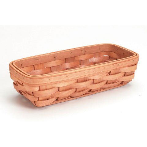 Bulk Buy: Darice DIY Crafts Wood Country Tray Basket 11 x 5 x 3 inches (12-Pack) 2848-15 by Darice