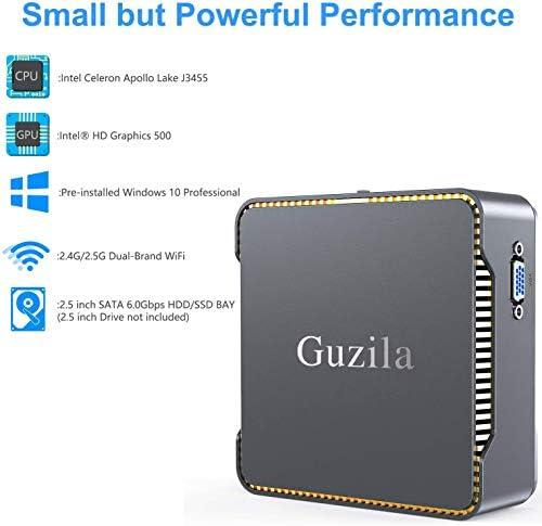 Mini PC, Intel Celeron J3455 Processor(up to 2.3GHz) Windows 10 Pro(64-bit) Mini Desktop Computer with HDMI/VGA Port,8GB DDR3/256GB SSD,Gigabit Ethernet,Dual Band Wi-Fi,Bluetooth 4.2,4K HD
