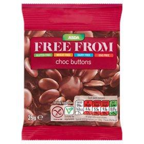 8c7c14ae73fc2 Amazon.com : Asda Dairy Free Gluten Free Chocolate Buttons 25g ...