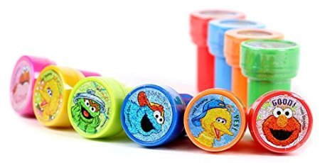 Elmo Sesame Street Self-Inking Stamps / Stampers Party Favors (10 Counts) (Count Sesame Street)