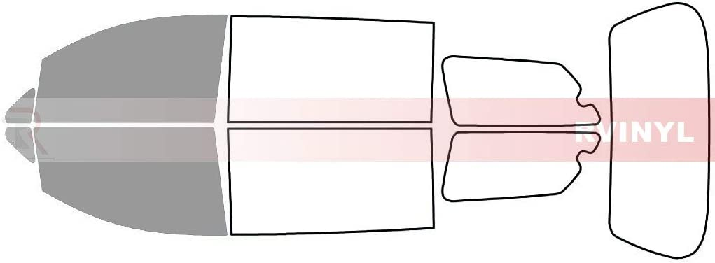 Front Kit Rtint Window Tint Kit for Toyota Sienna 2011-2018 20/%