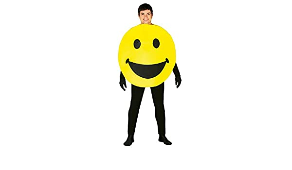 Disfraz de Icono Sonrisa amarillo para adultos: Amazon.es ...