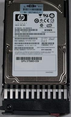 146GB SAS HP 10K Dual Port Drive w/ Tray 2.5 DG146BB976 (10k Rpm Drive)