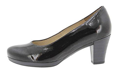 Confort Piel Salón 9301 Ancho De Zapato Cómodo Negro Piesanto Mujer Calzado Z5Fwxqf5