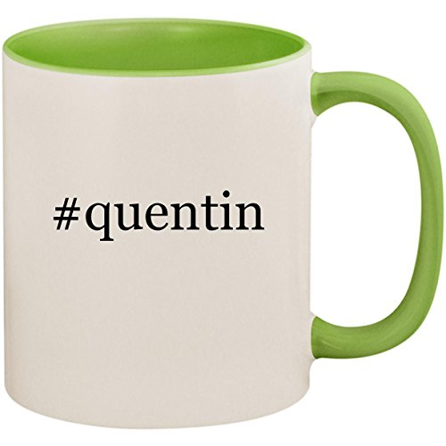 #quentin - 11oz Ceramic Colored Inside and Handle Coffee Mug Cup, Light Green