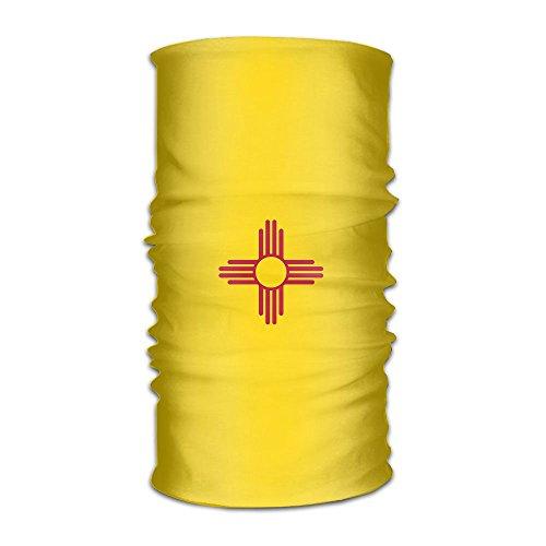 CASUQC Qcfg Headband New Mexico Flag Outdoor Multifunctional Headwear,16 Ways To Wear Your Magic Headwear