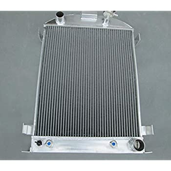 NEW 3 ROWS Aluminum Radiator 1932 FORD HI-BOY Grill Shells CHEVY ENGINE 32
