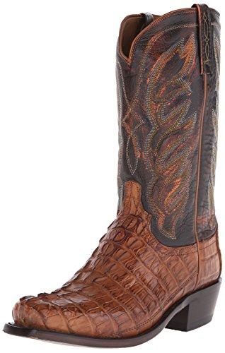 n's Landon-TN Hrnbk Caiman Tail Riding Boot, Tan, 9.5 D US (Caiman Tail)