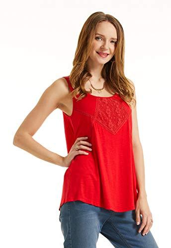 SONJA BETRO Women's Knit Lace Trim Tank Tunic Small ...