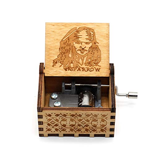 VDV Music Box - Anonymity Antique Carved Wooden Hand Crank sleeplion Music Box Birthday Gift Party Supply for Children Adults