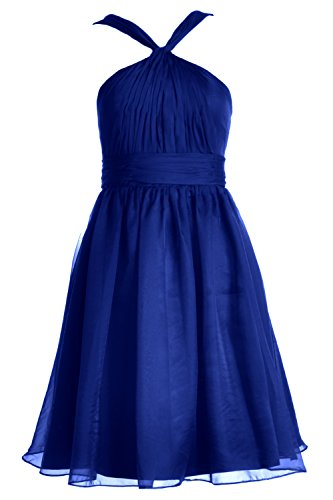 MACloth Cocktail Knotted Party Blue Bridesmaid Dress Chiffon Formal Gown Women Royal Short rA0xg5wrq