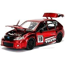 2012 Subaru Impreza WRX STI Red JDM Tuners 1/24 Diecast Model Car by Jada 30389